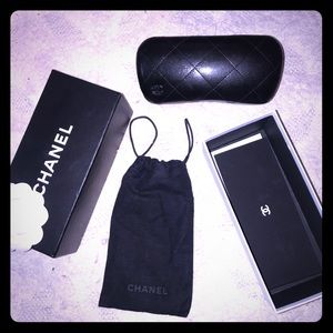 Chanel case, box and dust bag